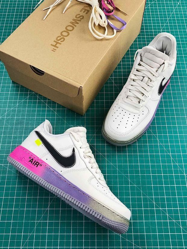 Off White X Nike Air Force 1 Low 07 Elemental Rose Balck in