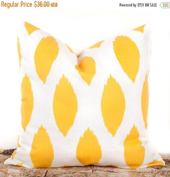 SALE ENDS SOON Yellow Lattice Pillow Cover Yellow Decorative