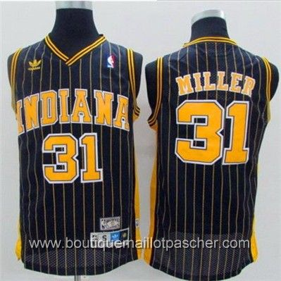 maillot nba pas cher Indiana Pacers Miller #31 Noir mesh tissu 22,99€