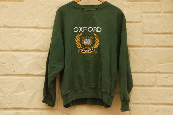Vintage 80s-90s Oxford University Sweatshirt by SycamoreVintage