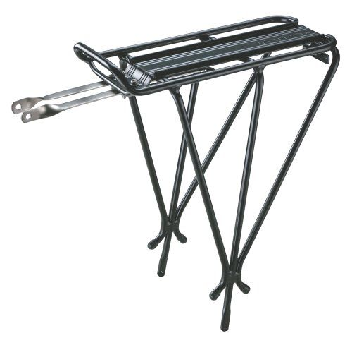 "$27.95-$44.95 Topeak Explorer Bike Rack - Topeak Explorer Rear Mount Rack features an integrated top plate for quick-mount Topeak MTX and RX Quick Track trunk bags.Size (LxWxH): 13.4"" x 5.6"" x 16.3""One size fits all framesTough 6061 T6 aluminum construction with 6061T6 aluminum fitting bracketHollow tube O/D 10.2mmIntegrated top plate for quick-mount Topeak MTX and RX Quick Track trunk bagsIntegr ..."