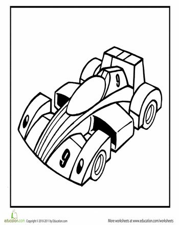 Racing Car Coloring Page