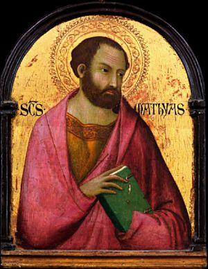 """St. Matthias the Apostle, Patron Saint of Alcoholics: """"Saint Matthias"""" by Simone Martini"""