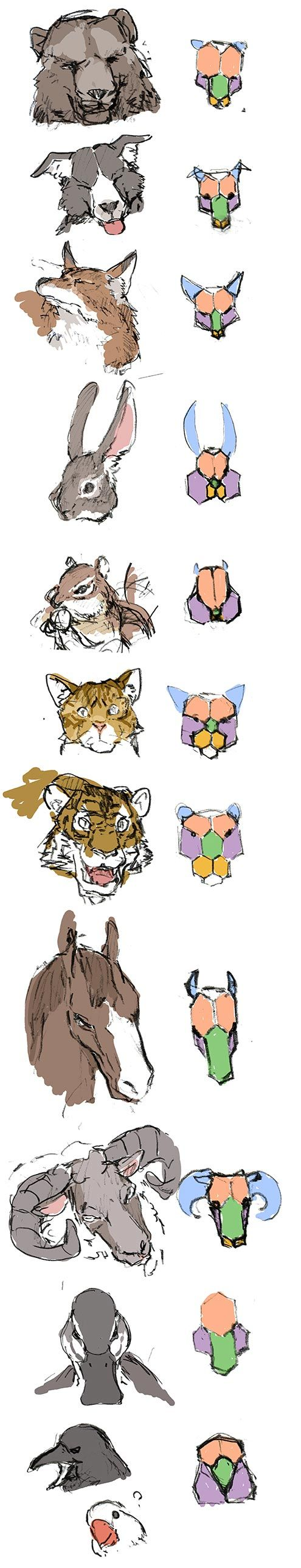 sketch-study with animal face by hira-geco.deviantart.com on @deviantART