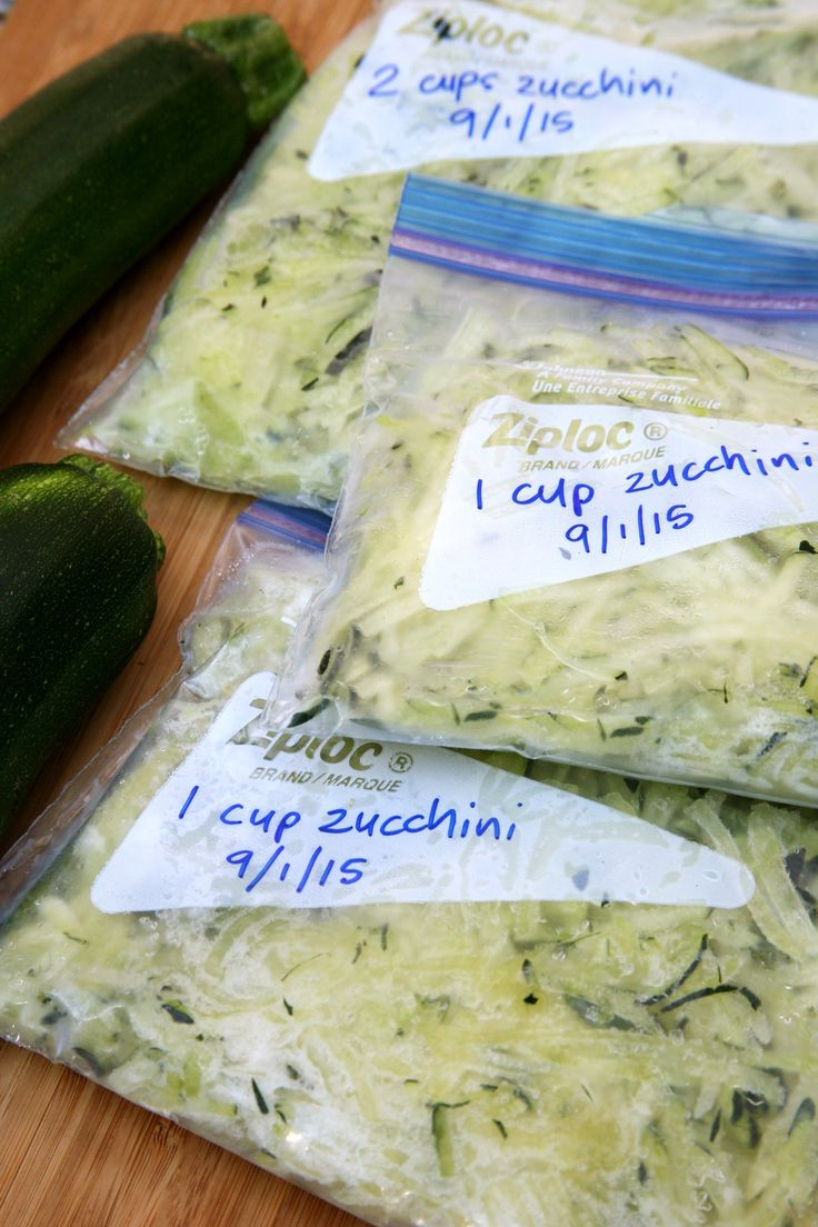 How to Freeze Zucchini to Use All Winter Long