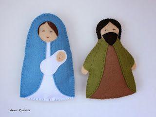 Модные куклы: Рождественский вертеп! Мария с младенцем Иисусом и Иосиф! + МК.