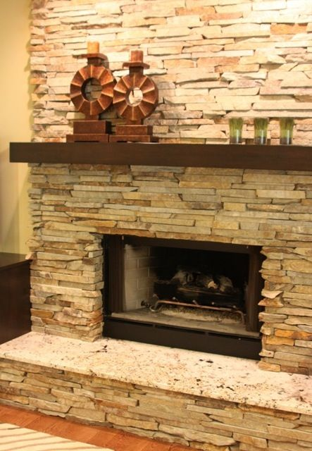 I want a thick rustic shelf over my stone  fireplace LOVE THAT