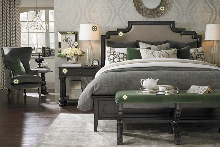 Rooms We Love - Bassett Furniture. Bedroom ideas-Maybe different accent color?
