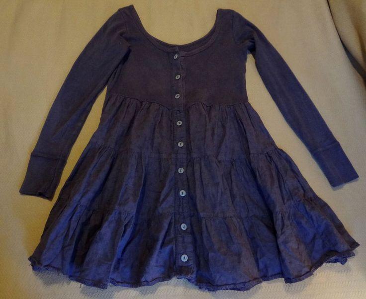 Late 80s Vintage Betsey Johnson Blackish Purple Overdye Babydoll Dress Petite #BetseyJohnson #BabydollDress