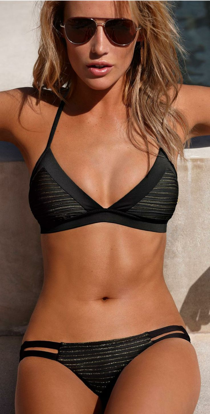 354869645609812566 I wish... Vitamin A Swimwear Isis Black Bikini | Southbeachswimsuits