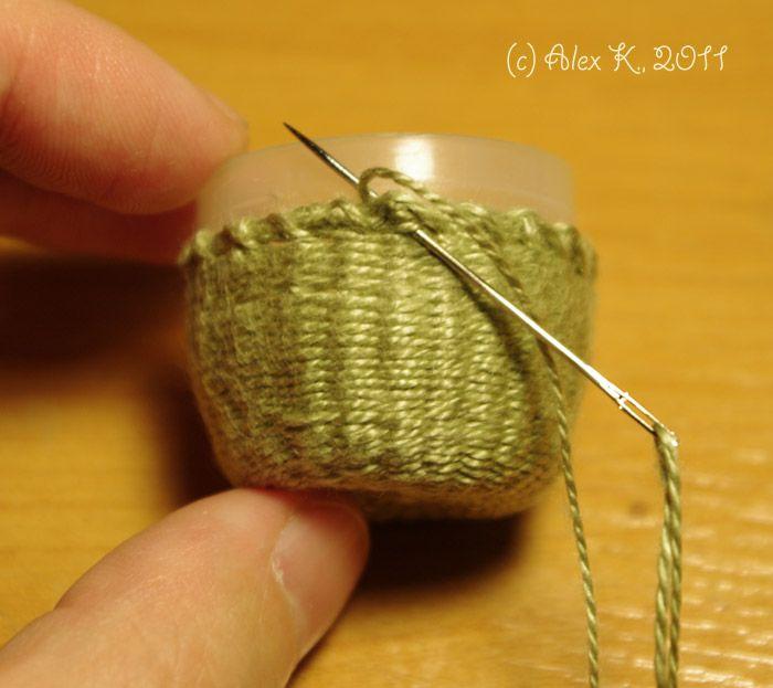 Как сплести корзинку. (How to weave a basket.)