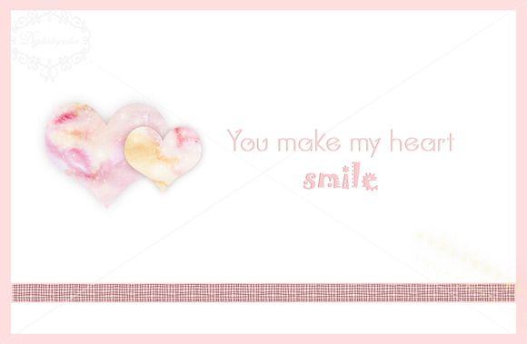 You make my heart smile template by digitalopedia on Creative Market