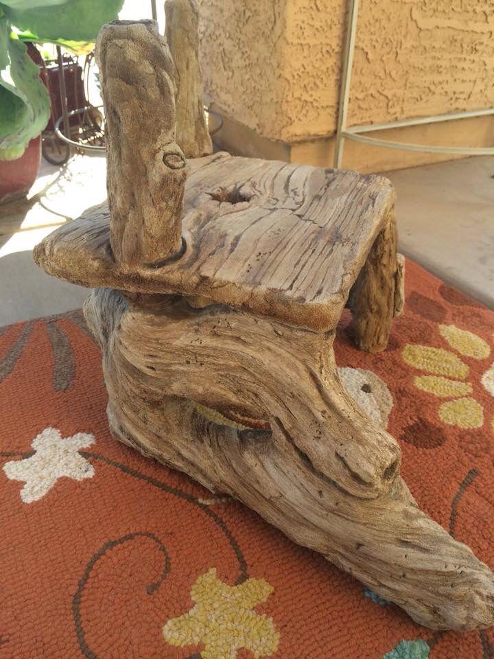 Faux Bois Beton : Faux Cement Stool