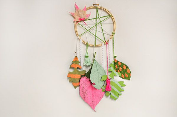 Inspired by the changing fall colors, Amy of Delineate Your Dwelling shares a DIY Leaf Dream Catcher kid friendly project with Honest to Nod readers.
