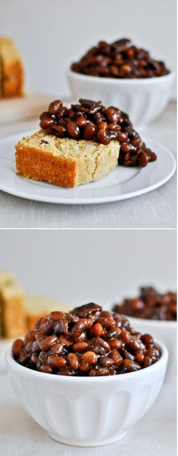 Crockpot Baked Beans I howsweeteats.com