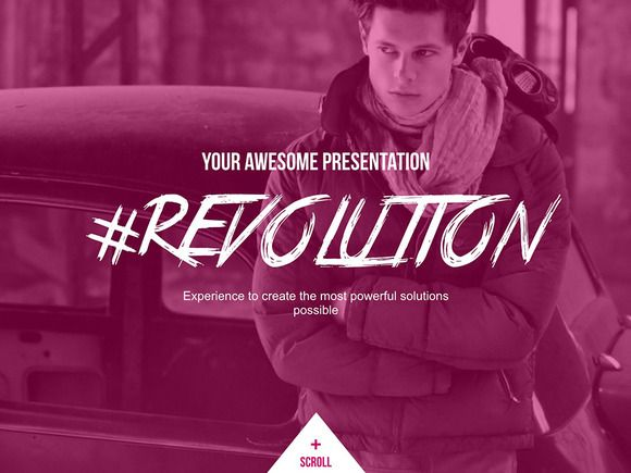 Revolution Keynote Template by Humble Pixels on @creativemarket