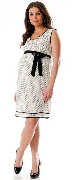 Benekli siyah kuşaklı  bayrama özel hamile elbisesi modeli