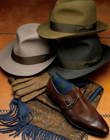 ♂ Stylish man's accessories - hats, gloves, shoes and scarves. Love the olive brown color. It' so masculine yet elegant. Rich winter fashion color .