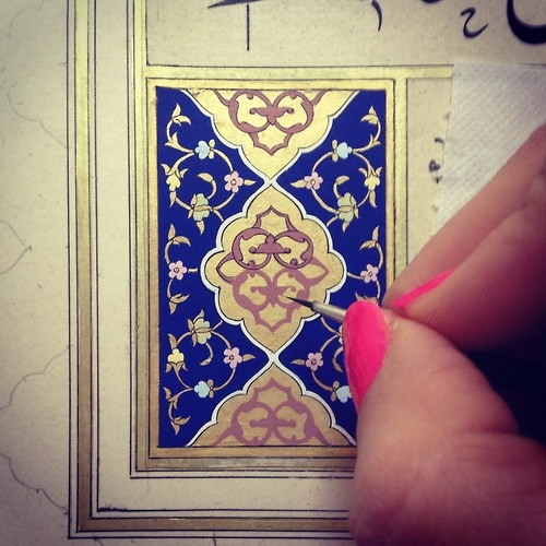 """""""Tezhip,"""" a traditional style of illuminated illustration that originated in the Ottoman Empire. This technique has been used to decorate ceramics, architecture, books and more."""