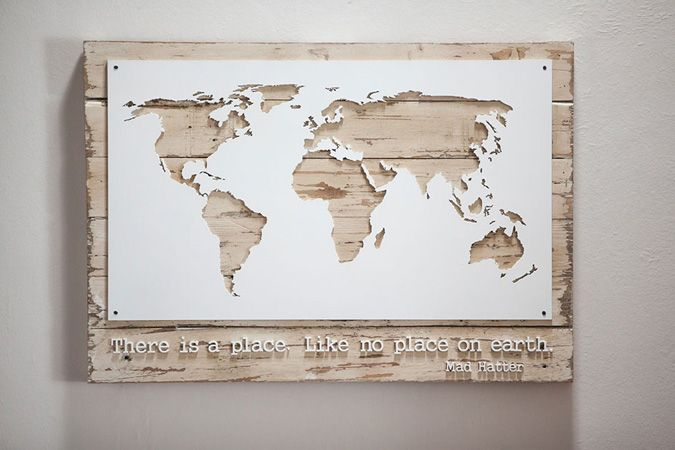 Best of wooden world map wall art about my blog map world traveller wall art wall decor home 17 gumiabroncs Image collections