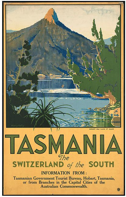 #Tasmania - The Switzerland of the South / love old #Travel #Posters
