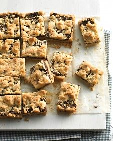 Use one batch of dough for both the crust and streusel topping in this energizing, fruit-packed favorite that'll satisfy a sweet tooth.Desserts, S'More Bar, S'Mores Bar, Bar Recipe, Bar Cookies Recipe, Martha Stewart, Food Processor, Figs Crumble, Crumble Bar