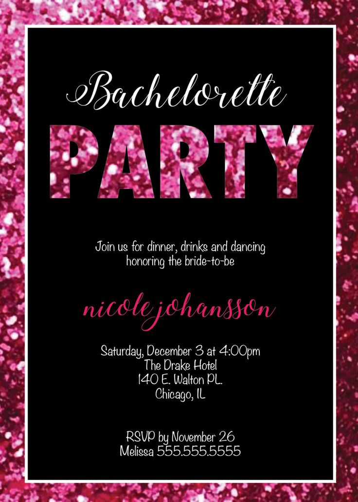 92 best Etsy- Nicole Party Designs images on Pinterest Birthday - bachelorette invitation template