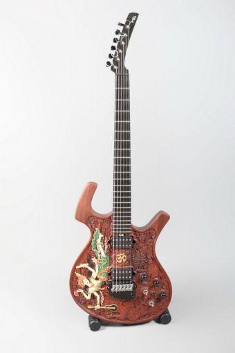 Dewa Budjana's Parker Saraswati Guitar - unbelievably beautiful. #carving