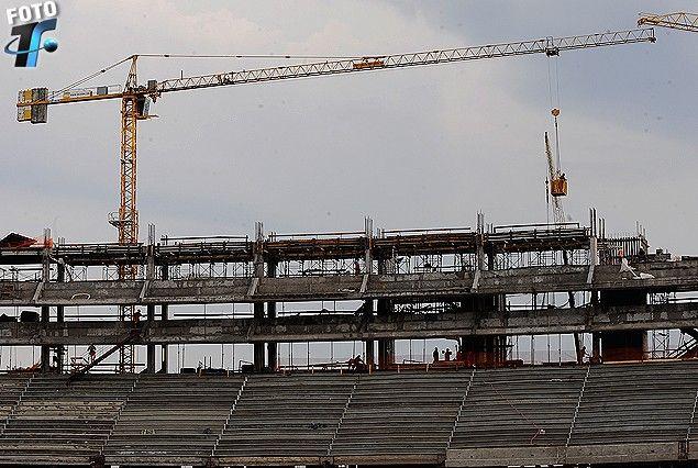 La zona del Edificio y el tercer nivel de Palcos en construcción.