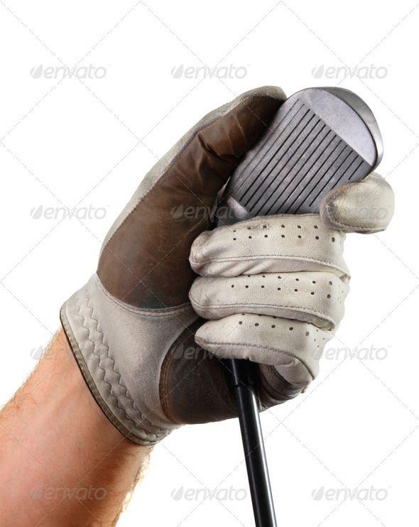 Golf Glove Hand Club (ball, close, club, equipment ...