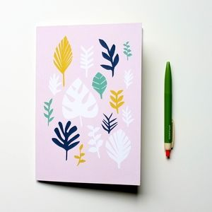 Leaves Pattern A5 Notebook
