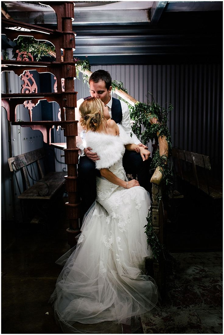 www.vanillaphotography.co.za | Durban wedding photographer, Durban wedding venue, Crystal Barn wedding venue, rustic wedding venue, boho venue, night shot, night chapel shot, bride & groom, navy suit, lace, strapless, peplum bridal gown, fur, loose updo.