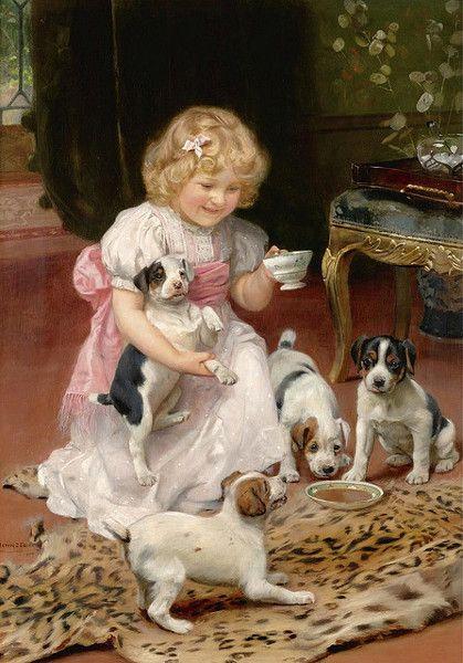 Arthur John Elsley ~ Too Hot, 1904