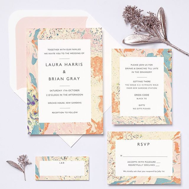 All about the marble effect LOVE this @papieruk x @katieleamon collab | See more on @rockmywedding or the @papieruk website #thelovelustlist