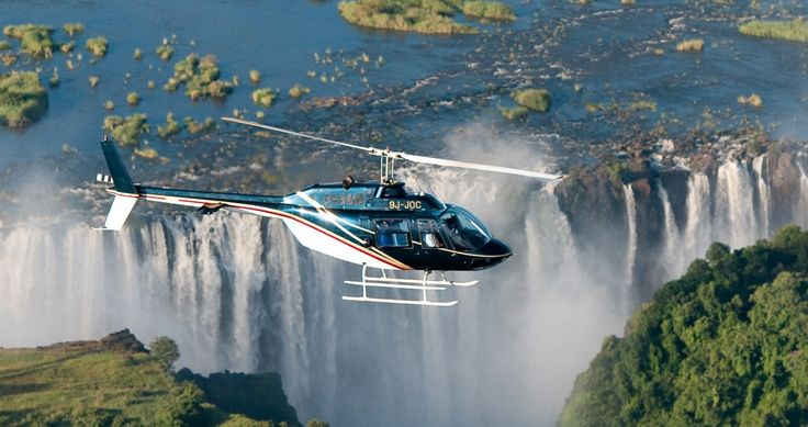 Step aboard our helicopter flight to view Victoria Falls like no other. This quick but incredible trip takes you straight over Victoria Falls and the surrounding Zambezi River and National Park – spot animals with ease, view the smoke that thunders and more.