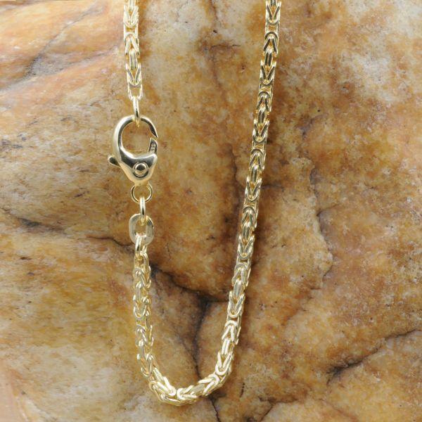 Goldkette Königskette 50cm 1,8mm Halskette Collier 585-er 14K Gold massiv 11,5 g