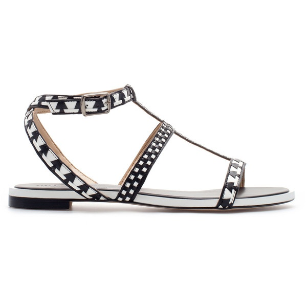 Zara Combination Flat Sandals ($90) found on Polyvore
