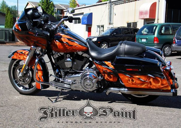 Airbrushed Skulls Shreds Motorcycle