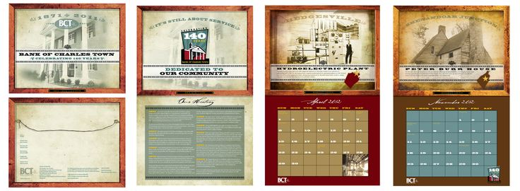 Calendar for Bank of Charles Town
