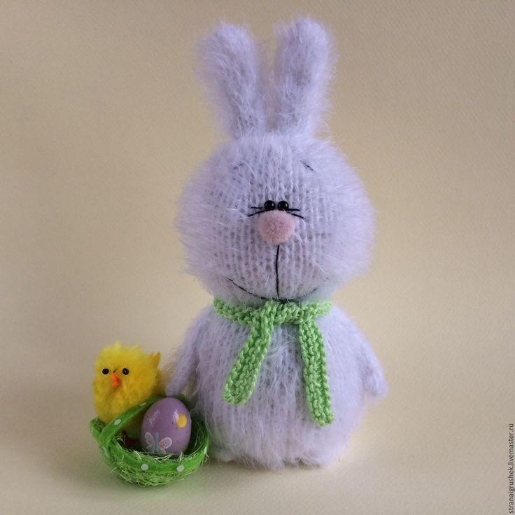 Купить Пасхальный кролик. - белый, кролик, Пасхальный кролик, вязаная игрушка, вязаный кролик