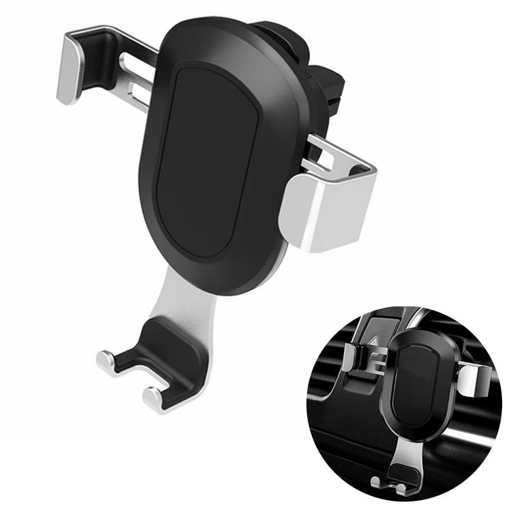 Car Mount Holder, Universal Air Vent Phone Holder for iPhone 8 / 8 Plus /7 / 7 Plus / 6 / 6s Plus, SE, Samsung Galaxy S6 / S7 / S7 Edge/ 8 / Note 6 / 7/8 and Other Smartphones (Sky silver)