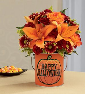 The FTD® Boo-Quet®  http://www.sandiegofujialaddinflowers.com/product/the-ftd-boo-quet-2014/display