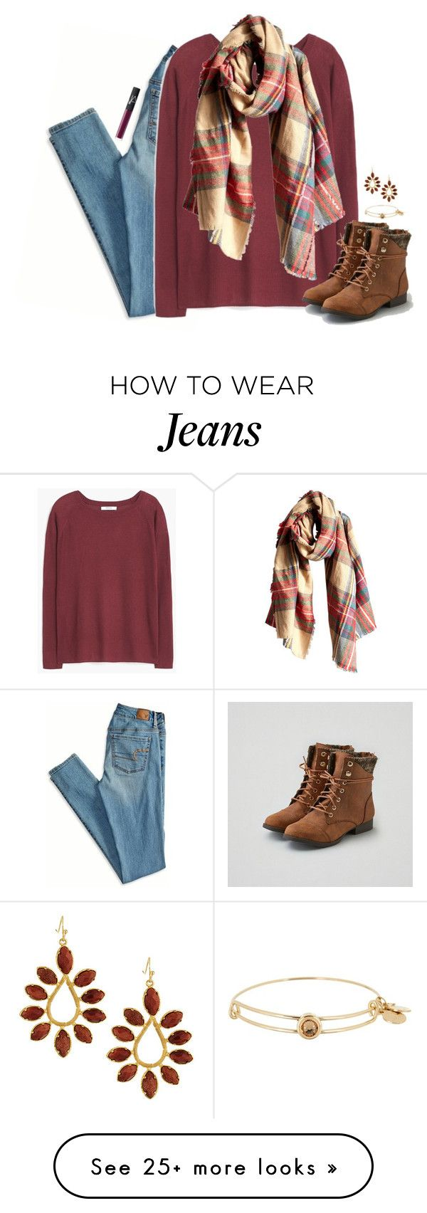 """darling, you were made for me."" by kaley-ii on Polyvore featuring American Eagle Outfitters, MANGO, Wet Seal, Alex and Ani, Kendra Scott and NARS Cosmetics"