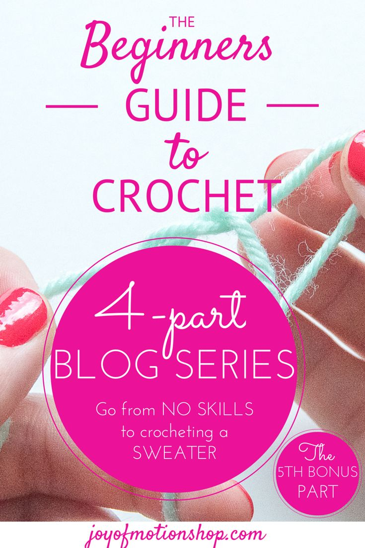 """The Beginners Guide to Crochet"" – Part 5"