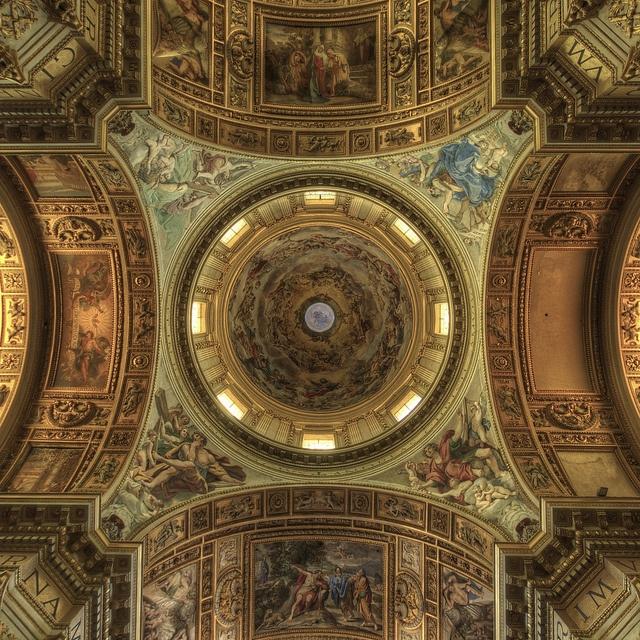 Sant'Andrea Della Valle basilica church, ceiling paintings