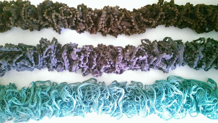 Beautiful knitted scarves