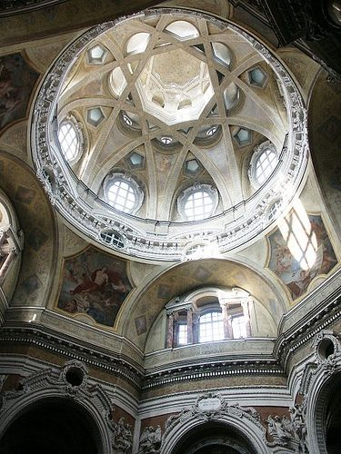 Torino Italy, San Lorenzo dome, designed by Guarini