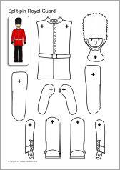 Split-pin Royal Guard and horse (SB8020) - SparkleBox - (2of5)