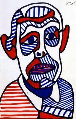 Jean Dubuffet - Autoportrait, 1966. - image murale
