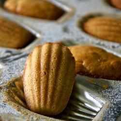 French Madeleines from Allrecipes.com - this is the best recipe I've tried to date, follow the instructions exactly and you will have the real deal (not the mini pound cakes Starbucks sell, these are authentic French Madelineines, they are lighter than air.)